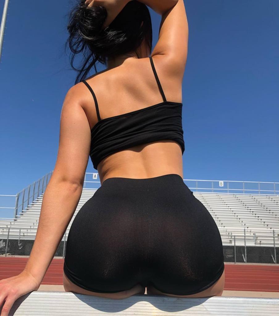 Hot girls spandex shorts nz