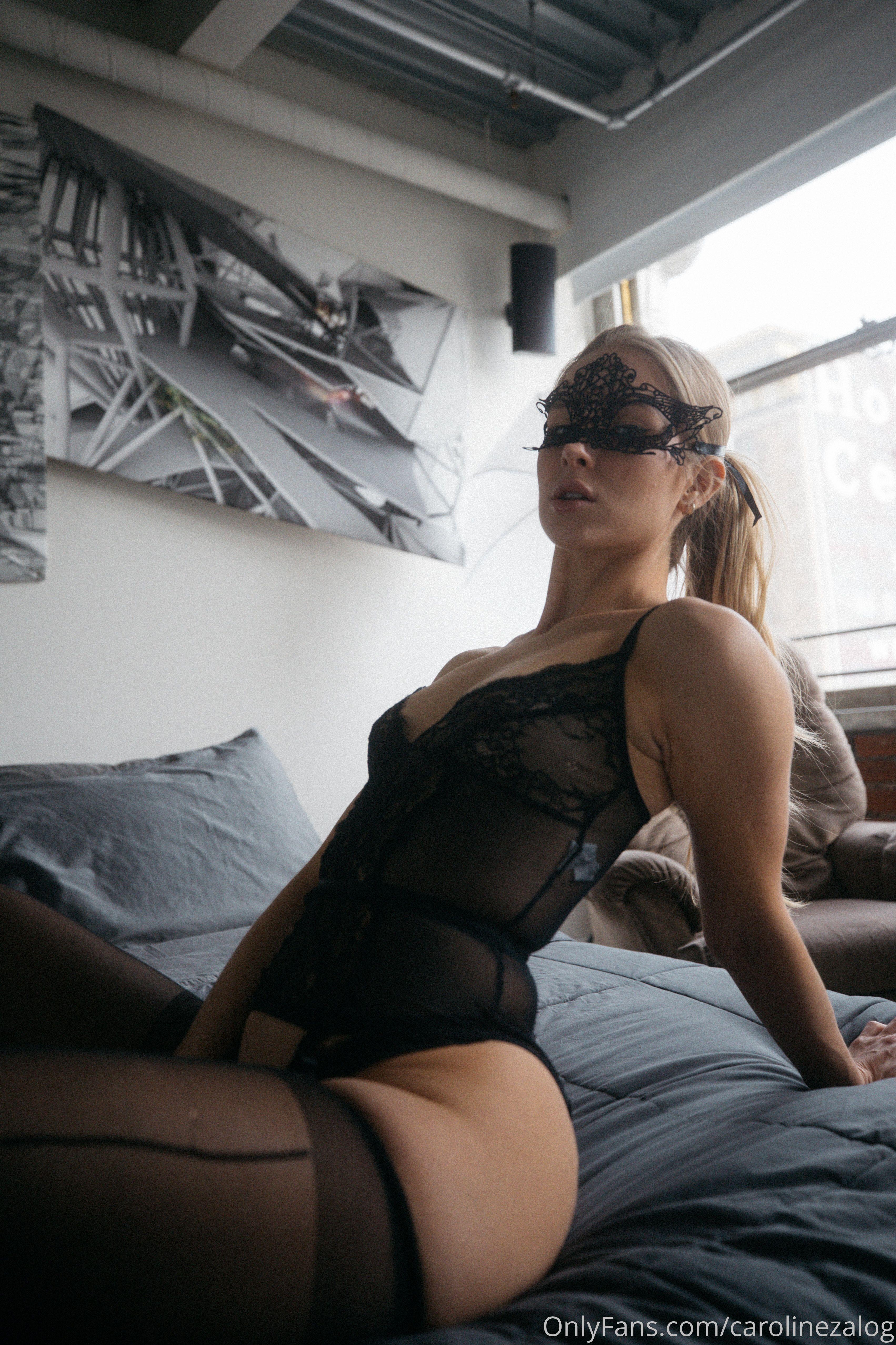 Caroline Zalog Black Lingerie Set 0006