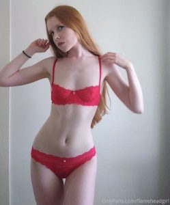Flamehead Girl Onlyfans Lingerie Lewd Photos Leaked