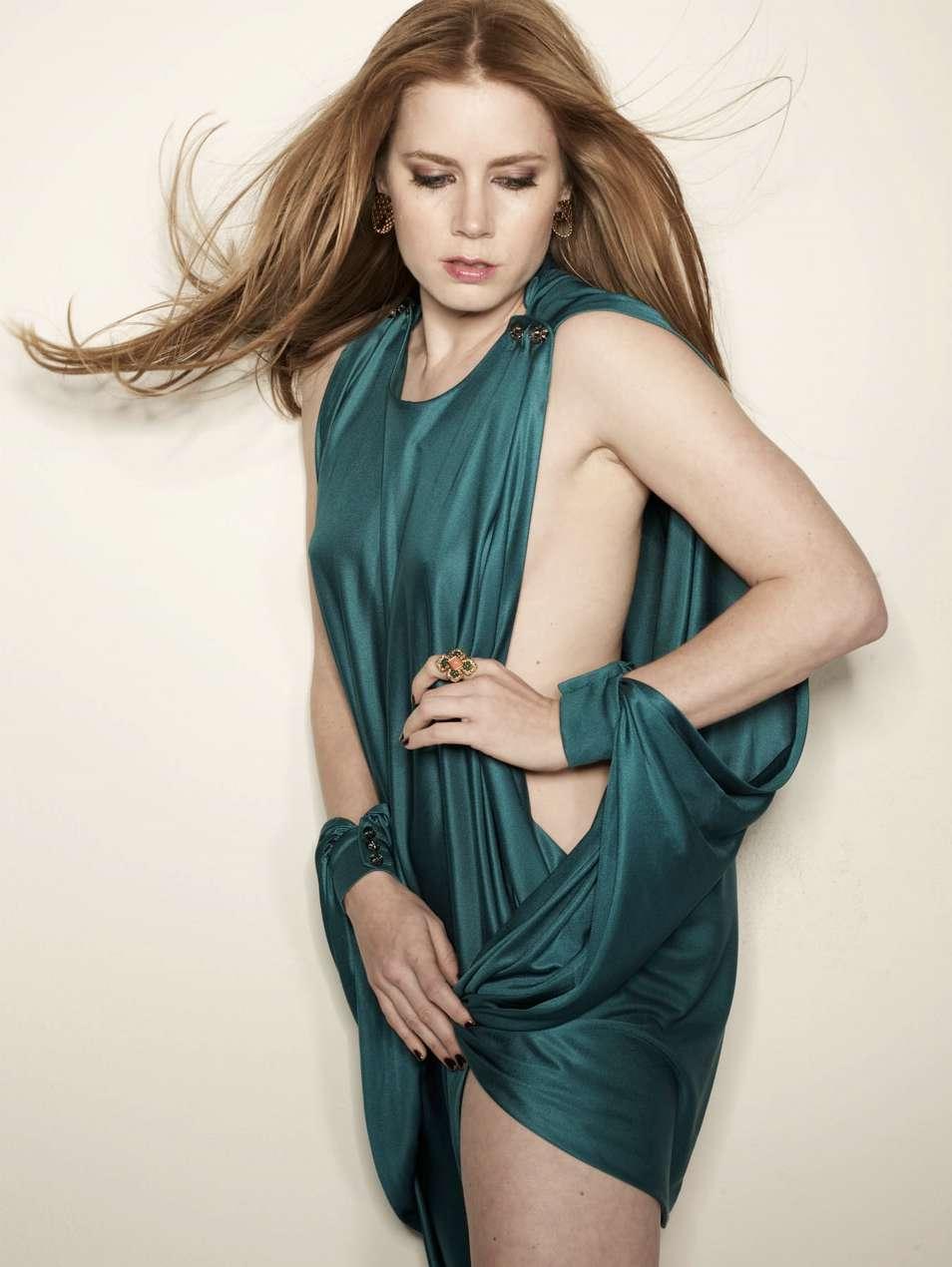 Amy Adams  Nude Underneath Hot Silk Dress