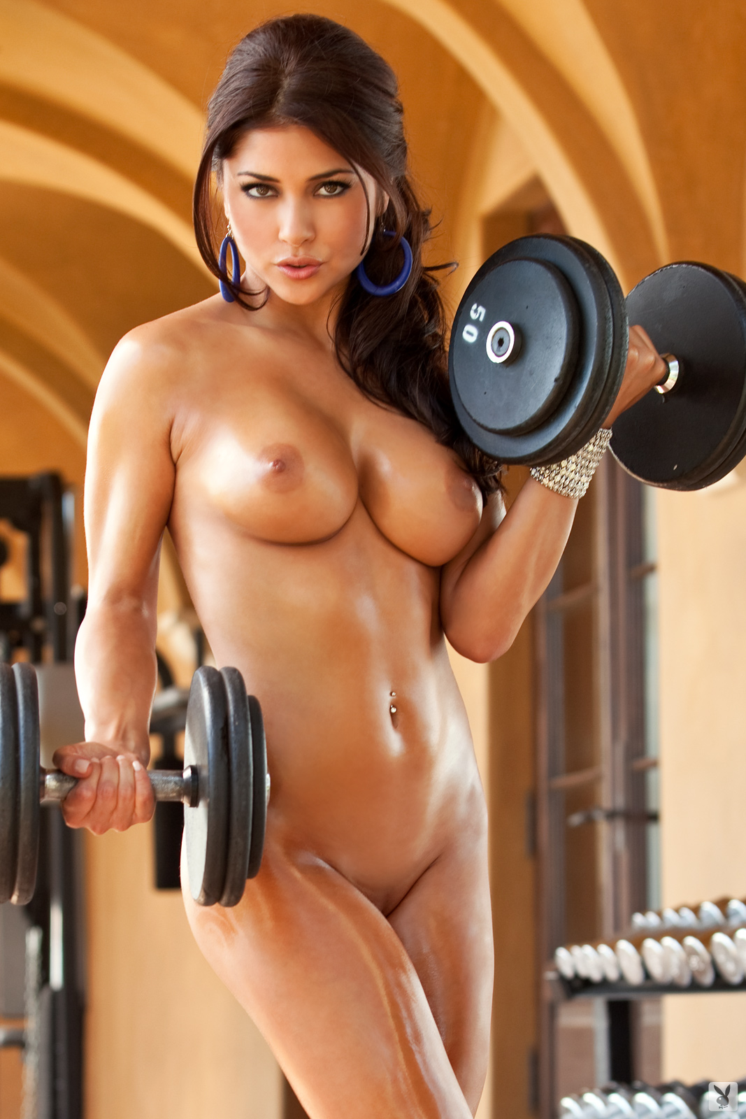 Arianny Celeste Nude in the Gym