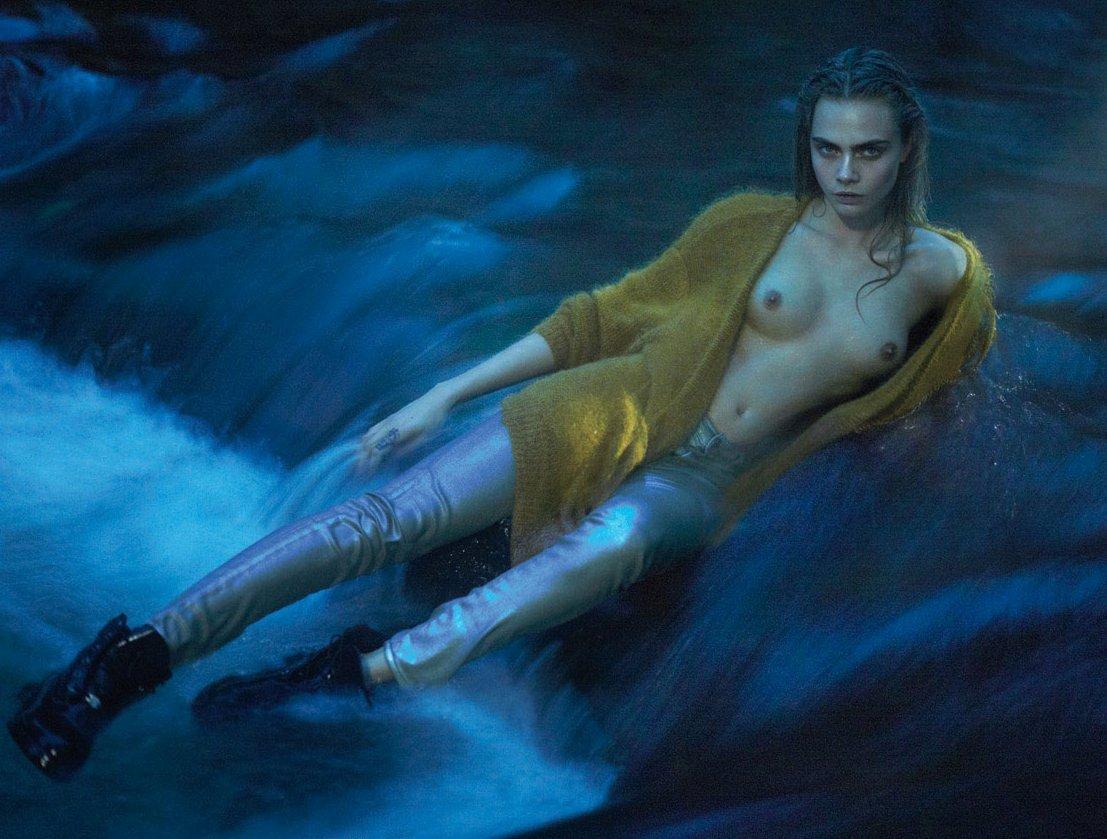 Cara Delevingne Nude Tits Leaked Magazine Photo