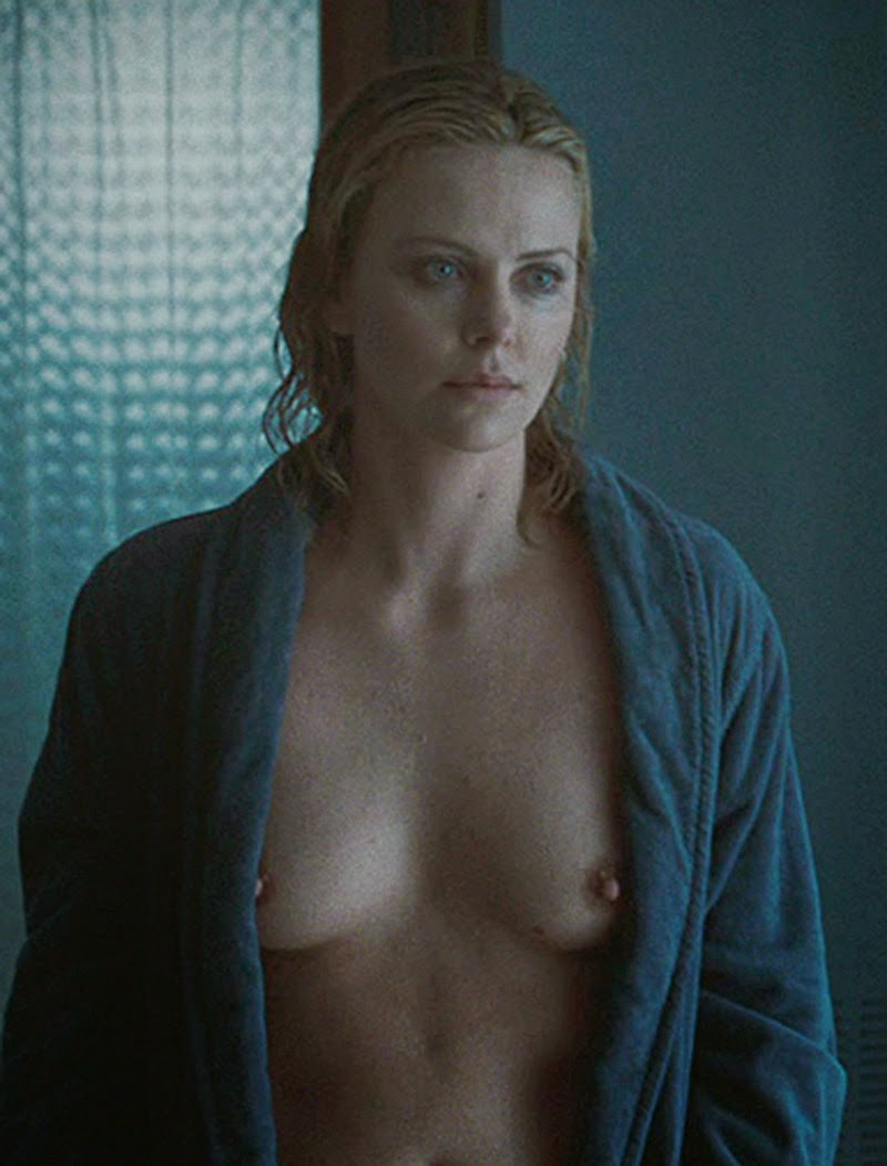 Charlize Theron Nude Tits after Shower