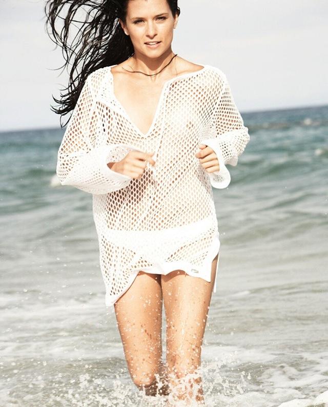 Danica Patrick in Transaprent Blouse All Wet