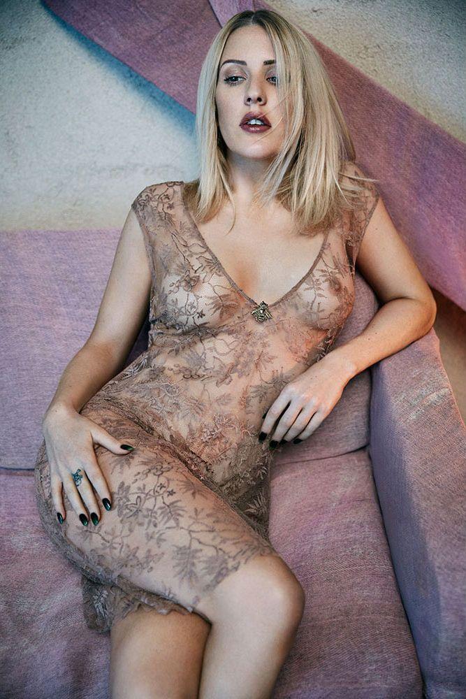 Ellie Goulding Nude Underneath Hot transparent Dress