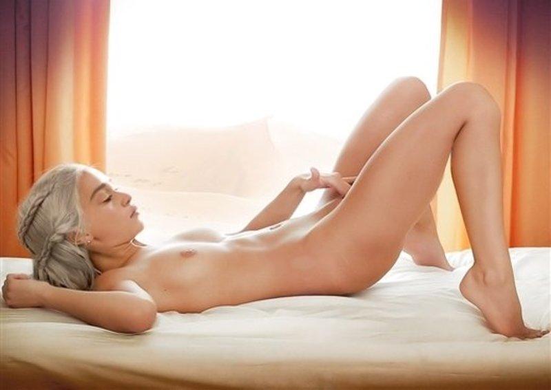 Emilia Clarke Nude Masturbating On Bed