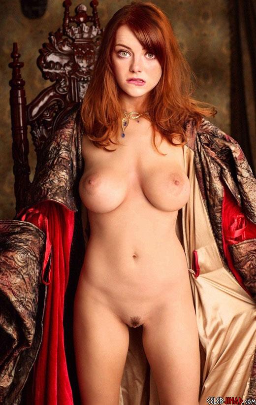 Emma Stone Fully Nude Sexy Magazine Leaked Photo