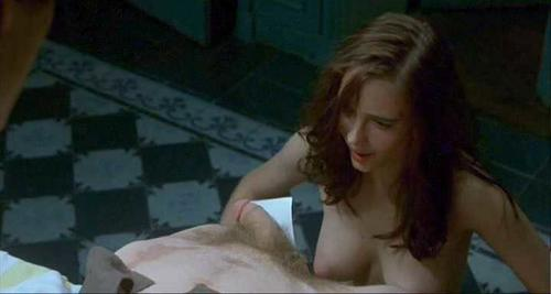 Eva Green Nude Looking at Guys Dick in Hot Movie Scene
