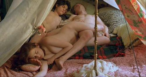 Eva Green Nude in Movie Scene with Two Guys