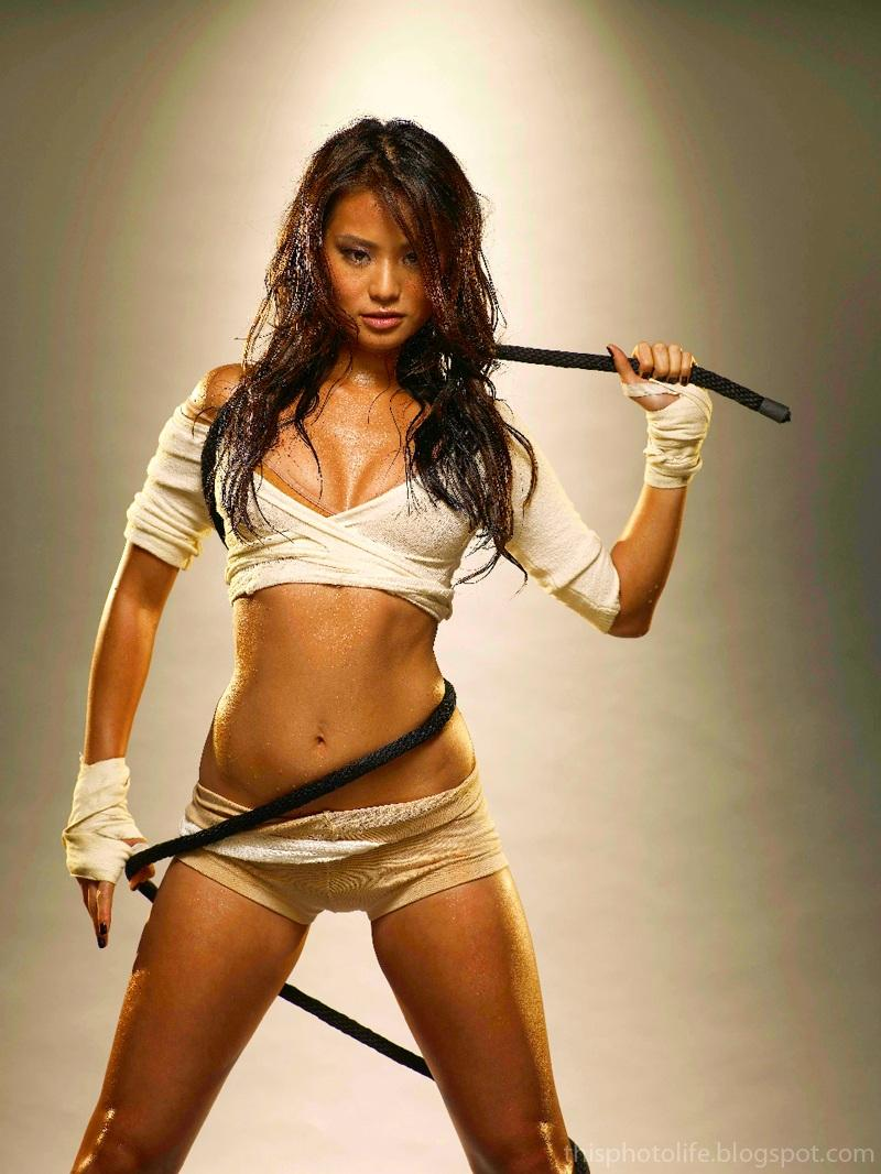 Jamie Chung Sexy Posing In White Outfit