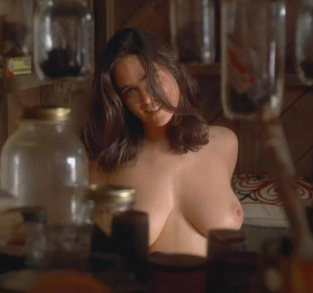Jennifer Connelly Nude Huge Boobs in Hot Film Scene