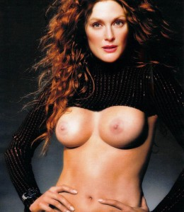 Julianne Moore Nude Big Boobs for Sexy Magazine