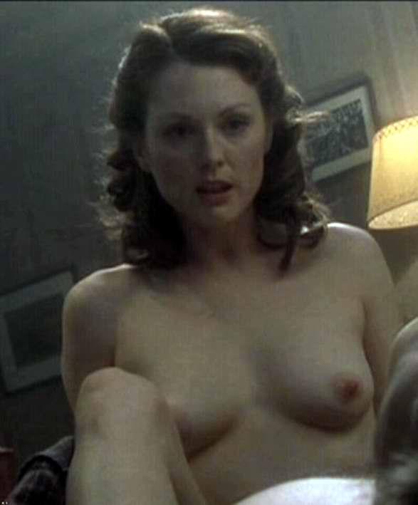 Julianne Moore Nude with Hard Nipples in a Movie Scene