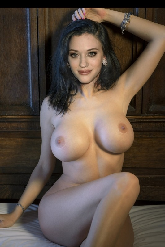 Kat Dennings Fully Nude Shows her Giant Tits