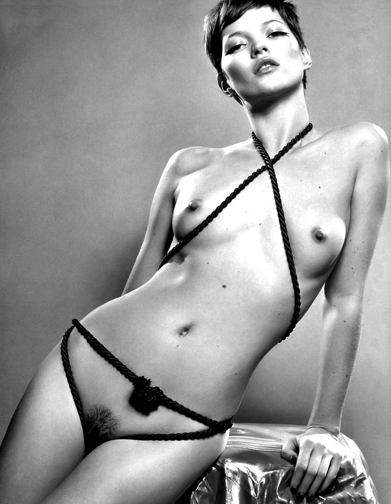 Kate Moss Nude With Short Haircut