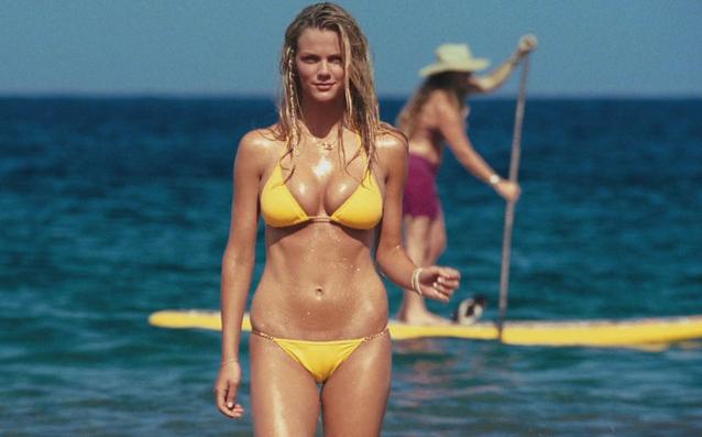 Katrina Bowden Nude Boobs Showing In This Hot Yellow Bikini
