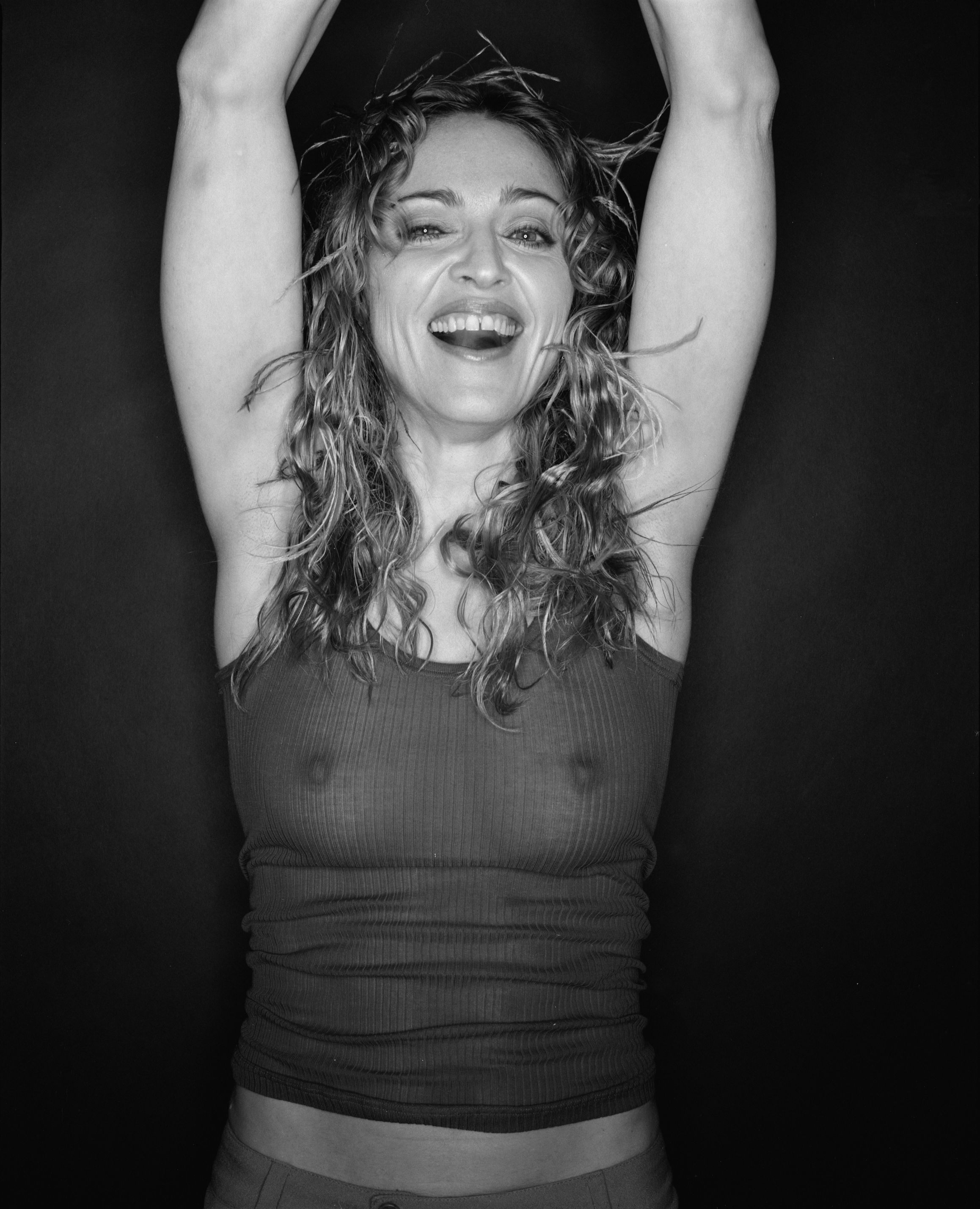 Madonna Nude Tits Under Transparent Blouse