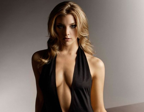 Natalie Dormer Sexy and Seductive with Half-Nude Tits in Hot Dress