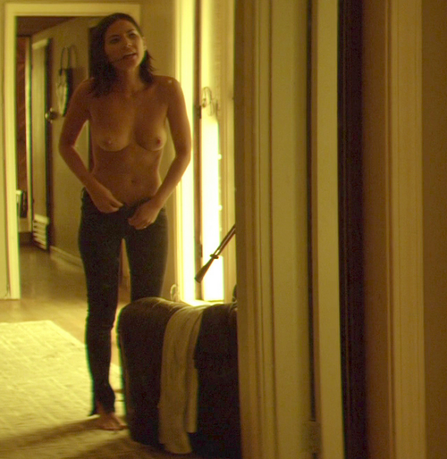 Olivia Munn Nude Tits while Taking her Panties Down