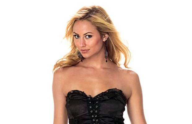 Stacy Keibler Sexy Body In Black Corset