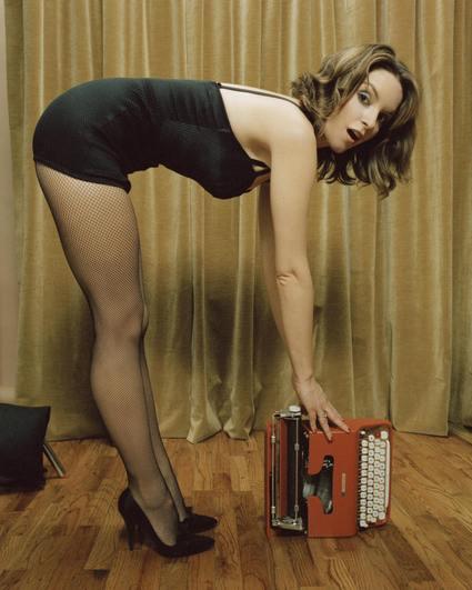 Tina Fey Bent Over in a Hot Dress